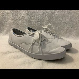Women's KEDS CHAMPION WF34000 White Canvas Casual